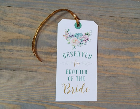 succulent reserved chair tag, reserved signs for chairs, reserved chair sign, reserved seating wedding, wedding reserved seating sign