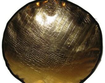 Gold Top Oilcloth PVC Pouffe Footrest Floor Cushion Decorative Pillow Cushion Furniture Pouff Black Corduroy Base