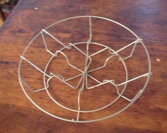 Vintage Wire Canning Jar Basket. Fruit Jar Holder. Canner baskets. 12 inch. Memory Boards. Chandeleir. Wedding Table.