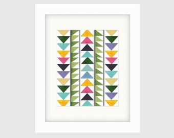Instant Download Printable Art, Original Art, Graphic Art, Contemporary Wall Art, Boho Style Print No. 1, Colorful Wall Decor