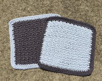 Set of 2 crocheted dish cloths