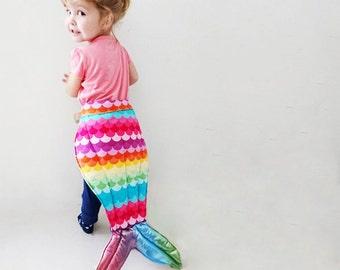 Dress up Mermaid Tail - Rainbow, kids costume, Halloween, Dress ups