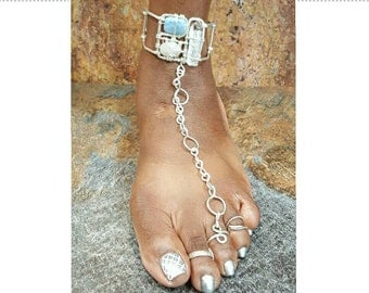 The Nona Kerry Silver Goddess Anklet