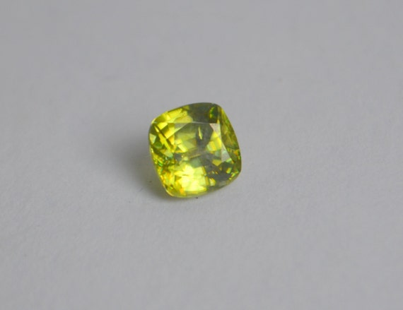 Sphene Cushion 7mm 1 63 Ct From Yvonneraley On Etsy Studio