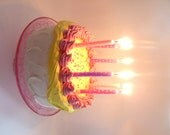 MAKE A WISH Fake Cake To Blow Out Candles To Celebrate A Birthday ,Great Prop For Any Birthday Party at Home and at school,Birthday Prop