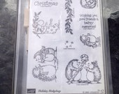 Stampin' Up Rubber Stamp Set, Holiday Hedgehogs 2001