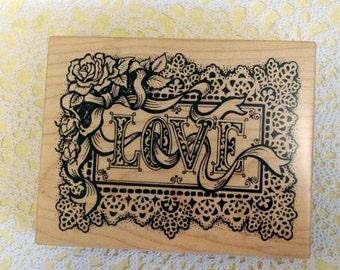 PSX K-1186 Wood Mounted Stamp Love