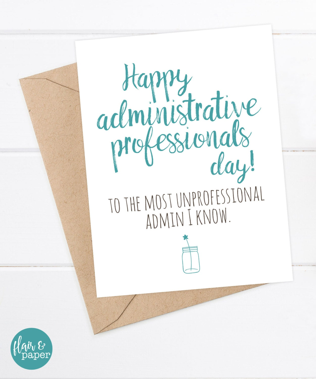 funny administrative professionals day card secretary
