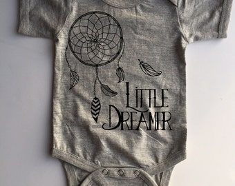 BOHEMIAN LINE - Little Dreamer Bodysuit or Toddler Tee - Available in various colors and Sizes