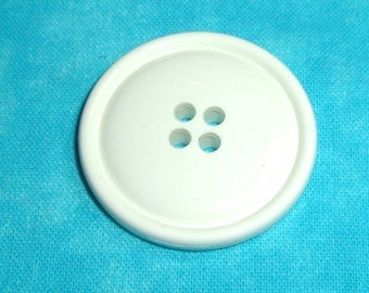 White 4 Hole Buttons Destash in 2 Sizes Set of 25