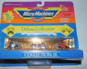 Micro Machines Deluxe Collection IX Galoob 1932 Vicky Duesy Packard Cars Vintage Cars, Set of 3 cars Micromachines