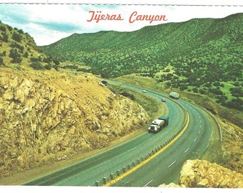 Vintage Route 66 Tijeras Canyon Approaching Alubuquerque, NM - Postcard - Unused