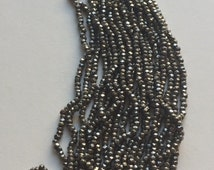 RARE  Antique Steel Cut Beads  - Made in France - 1 hank