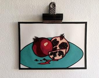 Pomegranate - Original papercut art