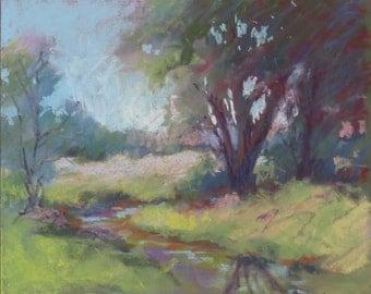 "Field & Stream 8x10"" Pastel Painting"