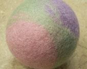 Natural Infant Toddler Toy - Wool Felt Ball - Pastel