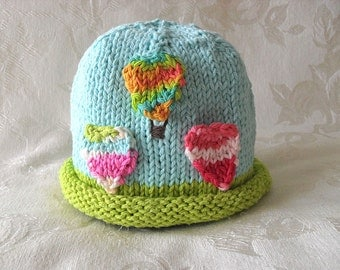 Baby Hat Knitting Knit Baby Beanie Knitted baby hats Knitted Hot Air Balloon Baby Hat Knitted Baby Beanie Cotton Knit Hat
