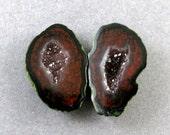 Petite Tabasco Geode Designer Matched Pair SALE 33% OFF