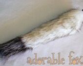 Black Tipped Arctic Fox Faux Fur Tail - Cosplay / Furry / Costume