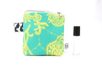 Small Roller Bottle Case - Souvenir - essential oil bag, rollerbottle holder, travel bag