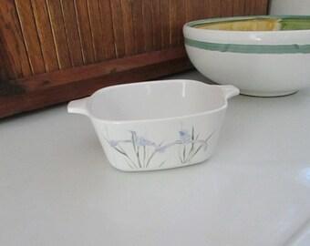 Shadow Iris Petite Pan - Corning Ware P-43-B  – Purple Iris Flowers - Discontinued  Vintage Corning Ware Cookware  – 1980s Kitchenalia