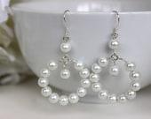 Pearl Hoop Earrings.