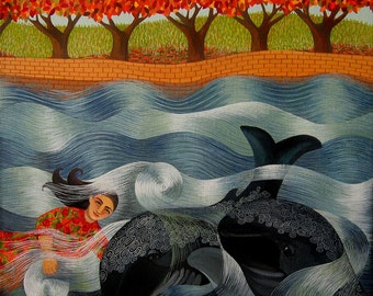 The Singing Whales (Original painting SOLD) - print available