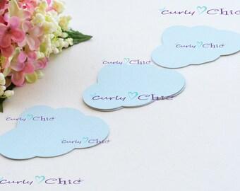 """160 Cloud Die Cut  2.50""""x1.66"""" -Paper Clouds tags -Cardstock Cloud -Small Clouds tags -Paper tags -Paper labels -Paper Clouds die cuts"""