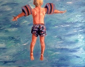 """Will. Commission for Cindy, 20"""" x 20"""" x 1.5 """". oil on stretched canvas by Yvonne Wagner.  Original oil painting."""