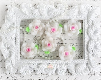 A Little Bit Shabby Blooms Set of 6 for Scrapbooking, Cardmaking, Jewelry Making