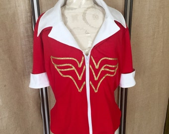 Wonder Woman Vintage Bombshell top Ready to ship NOW!