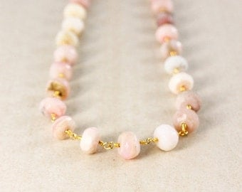 25% OFF Pink Opal Necklace – Boho Necklace