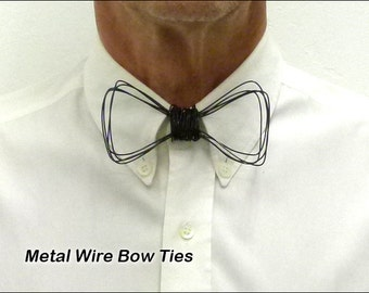 Metal, Wire Neck Bow Tie