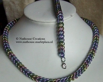 Chainmail Necklace & Bracelet Set