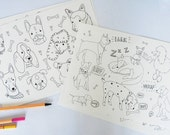 Dogs Colouring Sheets