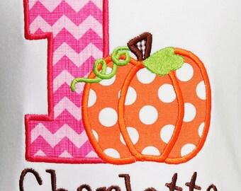 Girls Pumpkin Birthday Shirt, Pink Pumpkin Birthday Shirt, Little Pumpkin Birthday Shirt, Pumpkin First Birthday Shirt, Any Age, Custom