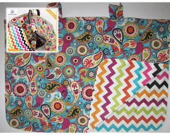 chevron paysley Baby Car Seat Canopy cover girl boy shower gift sun cover