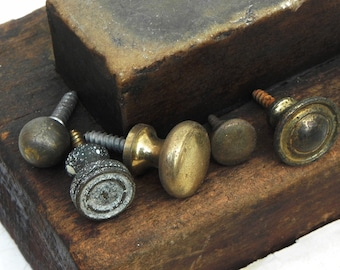 5 Small Vintage Drawer Jewelry Box Chest Knobs handles pulls Vintage Hardware