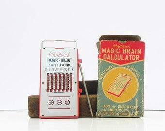 Vintage Chadwick Magic-Brain Calculator Geek Vintage Office