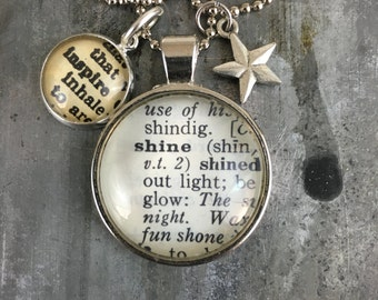 Dictionary Word Necklace - Shine