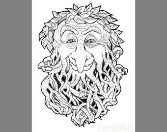 green man coloring pages - photo#10