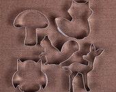 Woodland Animals Cookie Cutter, Fox Cookie Cutter, Owl Cookie Cutter, Deer Cookie Cutters, Squirrel Cookie Cutter, Baby Shower Cookie Cutter