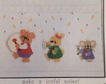 "Smocking plate by Little Memories ""make a joyful noise"""