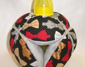 Baby Bottle Holder Ball- Classic Lil Man Bow Tie