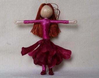 Waldorf Flower Fairy - Fairy Doll,  Art Doll, Worry Doll, Pocket Pal, Bendy Doll