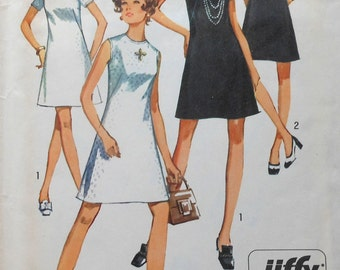 Vintage Dress Sewing Pattern Simplicity 8682 Size 10