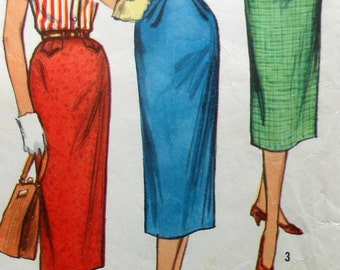Vintage Skirt Sewing Pattern  Simplicity 2191 Waist 26