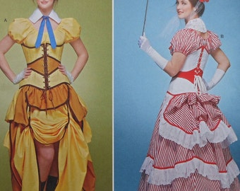 Plus Size Steampunk Cosplay Costume Sewing Pattern UNCUT Simplicity 8159 Sizes 14-22