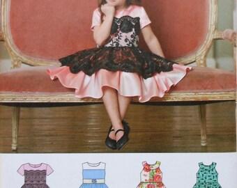 Girls Dress Sewing Pattern UNCUT Simplicity 8182 Sizes 3-8