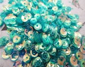 mermaid Teal aqua color shiny sequins 4mm 500 pieces sparkling loose for shaker pockets flip books scrapbook ship from USA